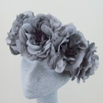 Supersized Grey Rose Limited Edition Flower Hair Garland - HFL167