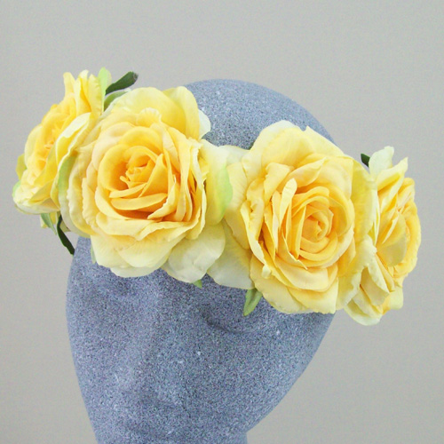 Supersized Yellow Rose Flower Crown - HFL169 dbe03c2a981
