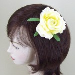 Yellow Rose Hair Clip or Corsage - HRO003
