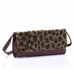 Faux Leather Cheetah Print Clutch Bag - DBA015