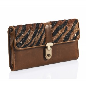 Faux Ponyskin and Zebra Ladies Purse - PUR001