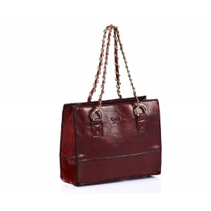 Mini Faux Leather Shopper Red - DBA013