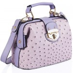 Ostrich Doctors Bag Light Purple - DBA008
