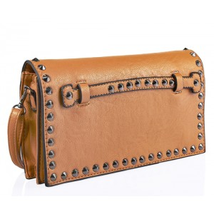 Studded Clutch Bag Orange - DBA005