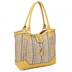 Weave Tote Shopper Yellow - DBA001