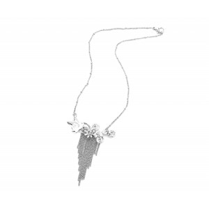 Bird and Waterfall Chain Necklace - BIR009