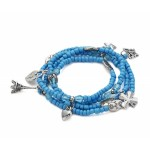 Blue Charm and Bead Necklace or Bracelet - CHA004