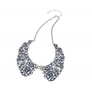 Blue Lace Collar Necklace - COL001