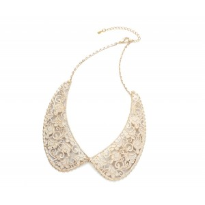 Cream Lace Collar Necklace - COL005