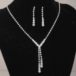 Graduated Diamante Necklace and Earring Set - BRI001