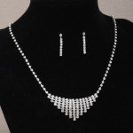 Crystal Diamante Choker Necklace and Earring Set - BRI005