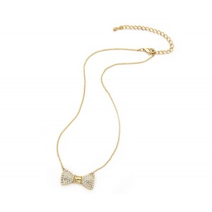 Diamante Bow Necklace - BOW001