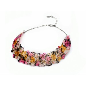 Floral Acrylic Collar Necklace - COL006