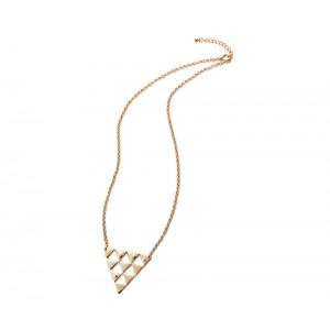Gold Triangle Necklace - TRI001