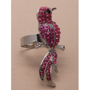 Bird of Paradise Ring Hot Pink - BIR004