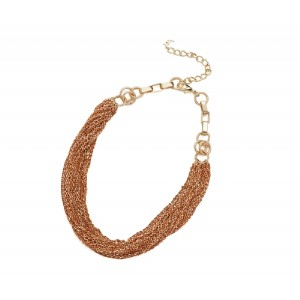 Metal Chain Necklace Orange - CHA002