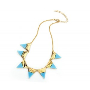 Triangle Necklace Turquoise - TRI002