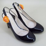 Shoe Clips Orange Flower - SHO004