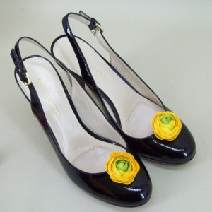 Shoe Clips Yellow Flower - SHO005
