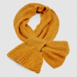 Winter Warmers Chunky Knit Scarf Mustard - SCA005