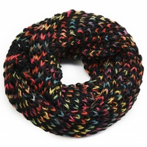 Chunky Knit Snood Multi and Black - SNO005
