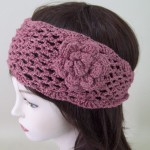 Crochet Flower Headband Pink - HEA001