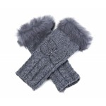 Fur Trim Arm Warmers Grey Marl - GLO004
