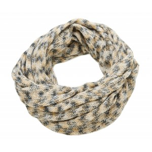 Multi Coloured Snood Beige and  Grey - SNO008