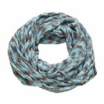 Multi Coloured Snood Blue and Brown - SNO007