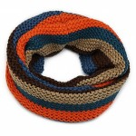 Multi Colour Chunky Knit Snood Orange and Blue - SNO011