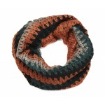 Waffle Knit Snood Burnt Orange and Green - SNO003