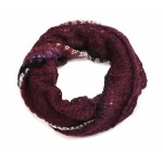 Waffle Knit Snood Burnt Plum - SNO004