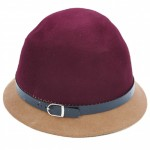 Winter Warmers Cloche Hat Wine and Camel CLO001