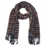 Winter Warmers Multi Spot Scarf with Brown Background SCA004