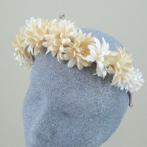 Hippie Chick Hair Band Large Daisies - ABC012b
