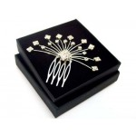 Artemis Diamante Hair Comb Silver - Bridal Hair Accessories - 012T