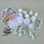 Assorted Flower Picks for Bridal Hair (20 Pack) - PIC001