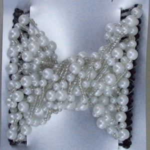 Corina Pearl and Sparkle Double Comb - Bridal Hair Accessories - 019T
