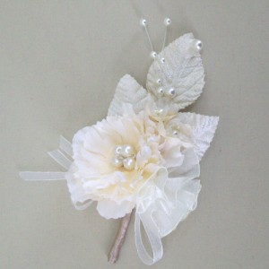 Corsage or Hair Clip - Cream Blossom and Flower - ABC015