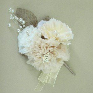 Cream Vintage Wedding Corsage or Hair Clip - ABC016
