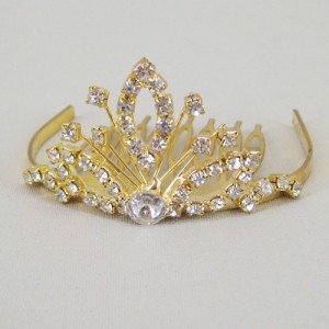 Eos Bun Tiara Gold - Bridal Hair Accessories - 015T