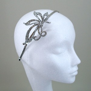 Hebe Diamante Hair Band Silver  - Bridal Hair Accessories - 016T
