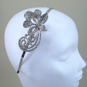 Hera Diamante Hair Band Silver  - Bridal Hair Accessories - 017T