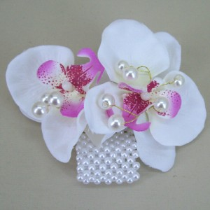 Japanese Orchid Wrist Corsage - WCOR018