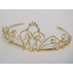 Persephone Tiara Gold Diamante - Bridal Hair Accessories - 009T
