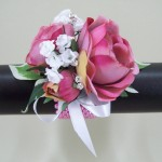 Pink Rose and Crystal Wrist Corsage - WCOR008