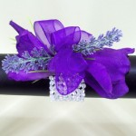 Purple Lisianthus and Lavender Wrist Corsage - WCOR015