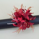Red Nerine Orchid Wrist Corsage - WCOR021