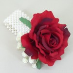 Red Silk Rose Wrist Corsage - WCOR014