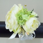 Rose and Viburnum Wrist Corsage - WCOR005